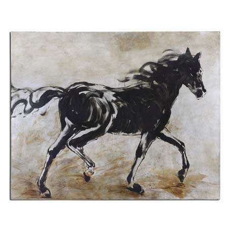 curtain call interiors horse picture wall art